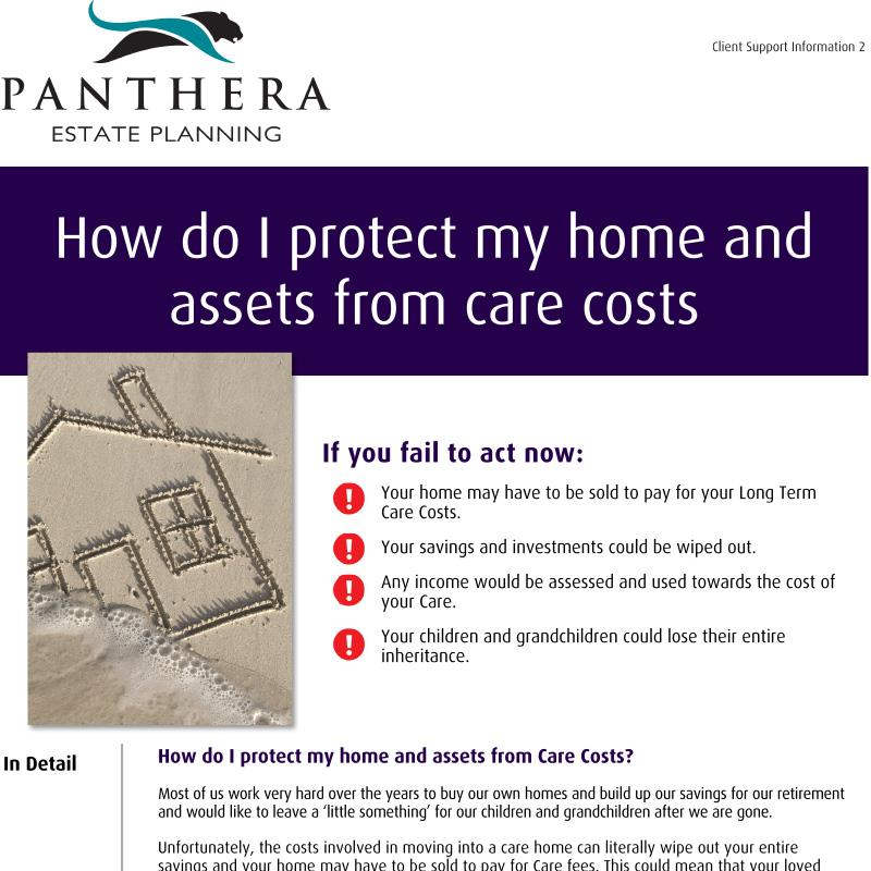 How do I protect my home and assets from care costs?
